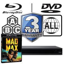 Sony UBP-X800 todos Zone multirregión 4K Ultra HD reproductor de Blu-RAY Mad Max Furia Road