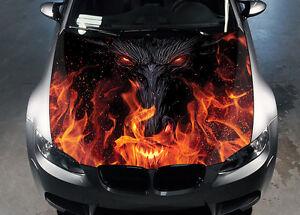 Dragon Eyes Car Hood Wrap Color Vinyl Sticker Decal Fit Any Car
