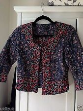 Topshop Kate Moss Liberty Print Quilted Folk Paisley Crop Jacket - Size 16