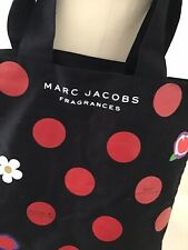 Marc Jacobs Daisy Fragrance black Ccanvass Summer beach tote bag red spots