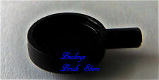 NEW Lego Minifig BLACK FRYING PAN Boy/Girl Cook Food Kitchen Skellet Dish Pan