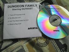 Dungeon Family Starring Outkast –  Arista – CDr, UK 4 track CD Sampler