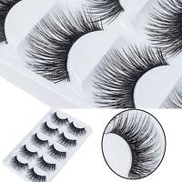 5 paires Beauté maquillage faux cils long épais naturel cils Extension Naturel