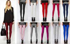 Full Length Disco Neon Shiny Glow Stretchy Tight Hot Pant Leggings Size 6-14