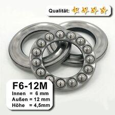10 Stk. Axiallager F6-12M - 6 x 12 x 4,5 mm