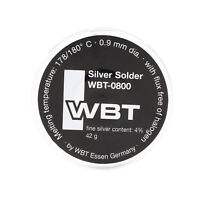 1roll SOLDER Germany WBT-0800 0.9mm 4%Ag Silver Wire Soldering for Audio DIY