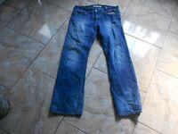 H9024 Levis 506 Standard Jeans W34 L32 Mittelblau mit Mängeln