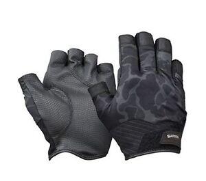 Shimano GL-222T Gloves Rungun 5 Fingerless Duck Camou Size L 670267