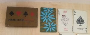 Used Deck Hamilton Plastic Coated Playing Cards with Women Joker Floral Design