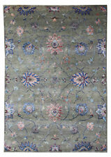 """New Oushak Pattern 5'7"""" x 7'10"""" Hand Knotted Devlin Persian Silk & Wool Area Rug"""