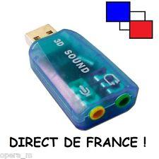 Adaptateur Carte Son externe USB 2.0 3D Stéréo 5.1 PLUG AND PLAY VIRTUAL SOUND