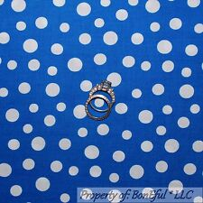 BonEful Fabric FQ Cotton Quilt Blue White Polka Dot Calico Baby Boy Small Little