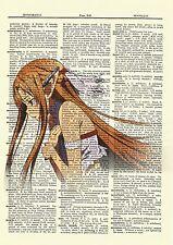 Sword Art Online Asuna Anime Dictionary Art Print Poster Picture SAO Book Manga