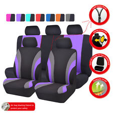 NEW 11PCS  Automobile Universal fit car Seat Covers  40/60  50/50 split purple