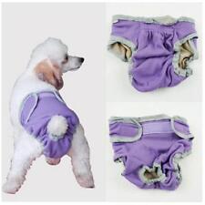 Female Pet Dog Pant Bitch Season Menstrual Sanitary Nappy Diaper Purple M