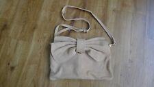 Mango(MNG) bovine leather beige small shoulder bag