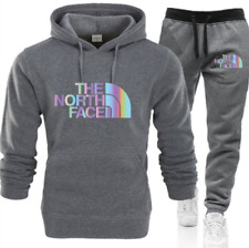 Mens Sport Set Full Tracksuit Hoodie Hooded Bottoms Gym Sweatshirt Joggers Suit