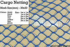Cargo Netting 30x30mm Heavy Duty 2mm Cord Cover Protection Net Luggage Car Truck