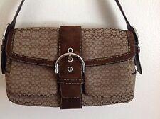 COACH SIGNATURE SOHO BROWN SIGNATURE BAG/PURSE/HANDBAG #1463 PRE-OWNED