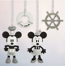 Disney Store Steamboat Willie Sketchbook Minis Ornament Set new Mickey and Minni