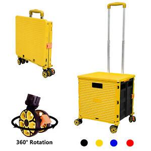 Shopping Cart Extra Large Rotate Wheeled Trolley Heavy Duty Storage Box Crate UK