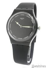 New Swatch Power Tracking Alcala Black Silicone Band Watch 42mm SUOB131 $75