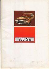 Mercedes Benz S Class 350 SE W116 1972-73 Original UK Sales Brochure No. WZ1479