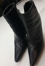 Bakers Julianne Black Leather Ankle Boots Size7