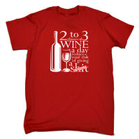 Funny Novelty T-Shirt Mens tee TShirt - 2 To 3 Glasses Of Wine Reduces Giving A
