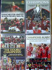 4 x Manchester United Season Review DVDs 2005/06 2006/07 2007/08 2008/09 Man Utd