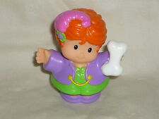 Fisher Price Little People Carnival Red Hair Fortune Teller Circus Bone