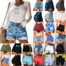 Women's Destroyed Ripped Denim Shorts High Waist Beach Jeans Hot Pants Trousers