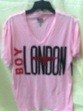 BOY London v nick sz xl  NEW Mens T-shirt blue gray Yellow Blue Orange