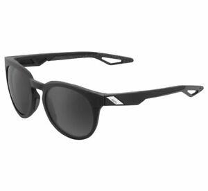100% Campo Sunglasses Soft Tact Black w/ Grey PeakPolar Lens