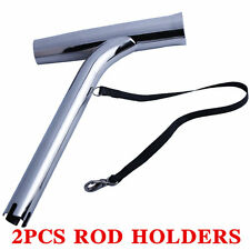SET OF 2 STAINLESS STEEL FISHING ROD HOLDER OUTRIGGER PLUG-IN MARINE BOAT YACHT