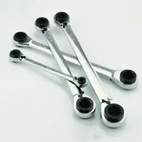 4 in 1 Twin End Reversible Ring Bi-Hex Ratchet Spanners, All Sizes, alloy steel
