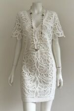 French Connection White Macrame Lace Dress