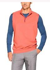 Adidas Golf Men's Club 1/4 Zip Vest Orange Size Large Sleeveless Stretch NWT