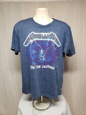 Metallica Ride the Lighting Adult Large Blue TShirt