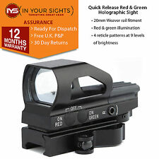 Quick release red & green dot reflex sight / Weaver rail holographic sight