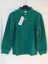 Polo Lacoste vert manches-longues - 8 ans