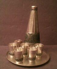 Antique Cordial Set Hommet Filigree 8 pc Set  c1920 Russian RARE