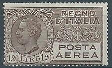 1926-28 REGNO POSTA AEREA EFFIGIE 1,20 LIRE MNH ** - ED361