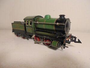 """Bing gauge""""O""""- LNER 0-4-0 Tender Loco 61506 Green 4-8vDC 3rail-good/unbxd c1934"""