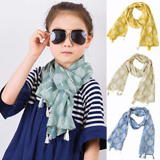 Toddler Baby Kids Girls Tassels Leaf Scarf Neckerchief Shawl Fringed Scarves New