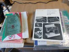 vintage sewing machine instruction manuals singer