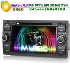 Android 8.0 Autoradio GPS Navi DAB+ CD Player für Ford Focus C-Max S-Max 3G OBD