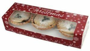 MINCE PIE BOXES festive CHRISTMAS Baking Xmas Decoration Treat CHOOSE QUANTITY