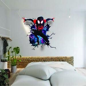 SPIDERMAN MILES MORALES SMASH THROUGH WALL STICKER VINYL ART DECAL 3D EFFECT