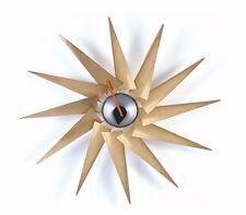 mid century danish modern nelson style turbine wall clock